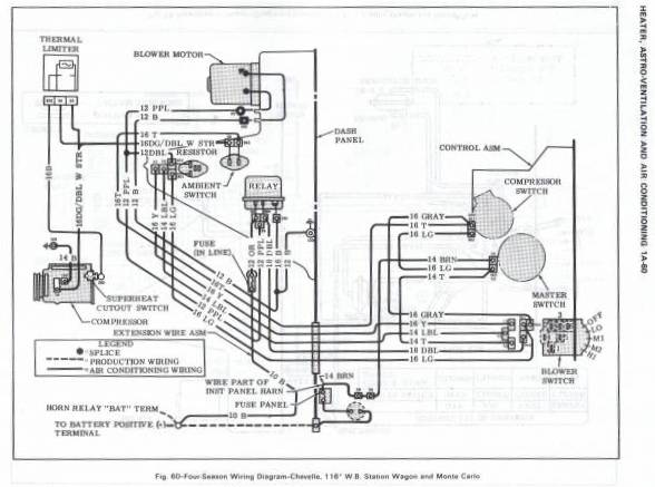 AC_WD 71 chevelle wiring harness diagram wiring diagrams for diy car Multi Speed Blower Motor Wiring at gsmx.co